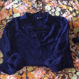 🌙5/15 Sparkle and Fade navy blouse